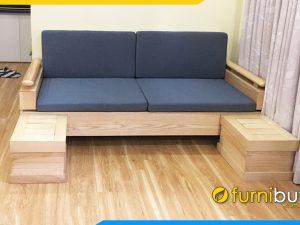 ghế sofa văng gỗ sồi đẹp giá rẻ